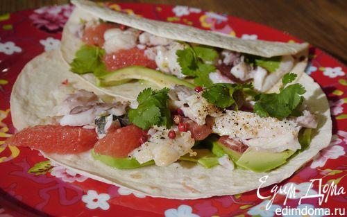 Рецепт Такос с рыбой и грейпфрутовым соусом