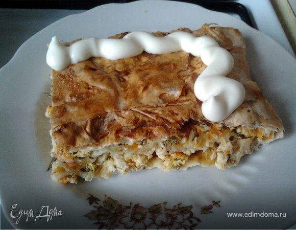 Куринный пирог из лаваша