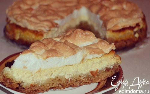 Рецепт Творожный пирог с меренгой