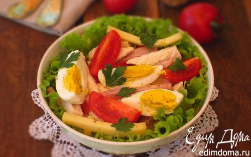 Рецепт Салат с курицей, яйцом и сыром