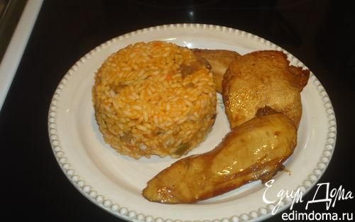 Рецепт Рис с овощами и куриной грудкой