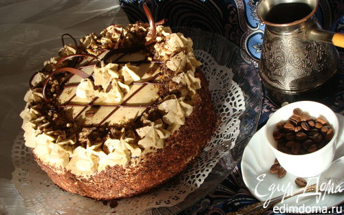 "Рецепт Торт ""Кофе, сливки, шоколад"""