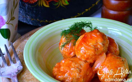 Рецепт Индюшиные тефтели с капустой