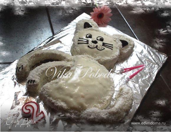 """Детский торт """"Котик"""""""