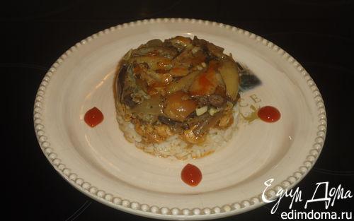 Рецепт Рис с курицей и грибами