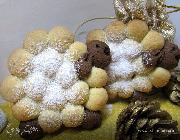 """Новогоднее печенье """"Овечки"""""""