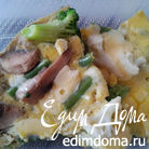 Фриттата с грибами и цветной капустой