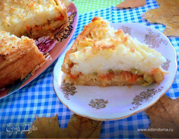 Пирог с рыбой и картофелем