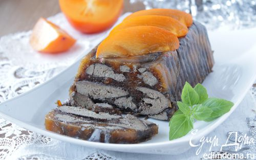 Рецепт Террин из куриной печени с хурмой