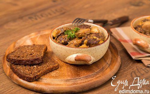 Рецепт Говядина, тушёная с овощами в хлебном соусе