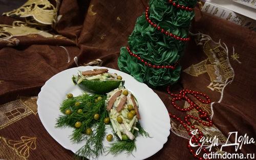 Рецепт Салат из авокадо с индейкой