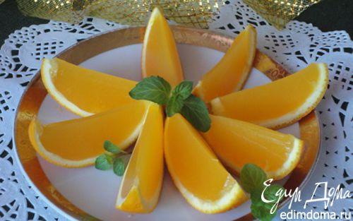 """Рецепт Желе """"Апельсиновые дольки"""""""
