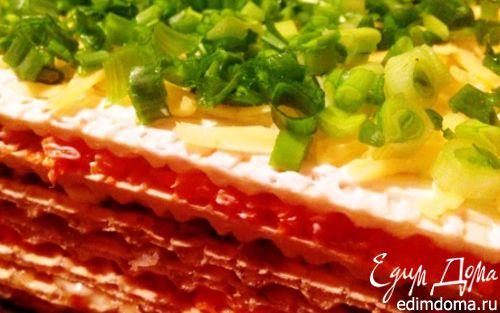 Рецепт Закусочный селедочный торт