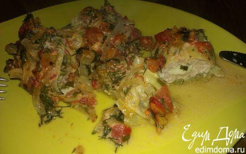 Рецепт Голубцы с курицей и сыром