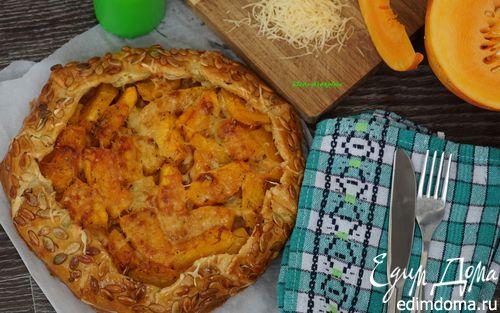 Рецепт Галета с тыквой, карамелизированным луком и сыром