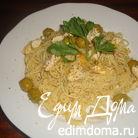 Спагетти с курицей в апельсиновом соусе