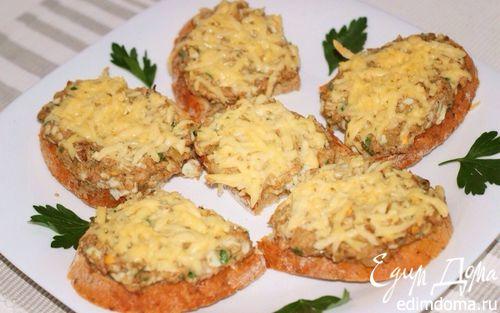 Рецепт Горячие бутерброды с сайрой