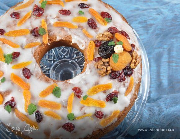 Ореховый кекс с глинтвейном