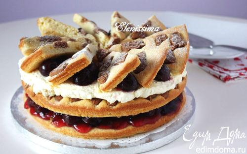 Рецепт Вишнёвый торт с пряным печеньем