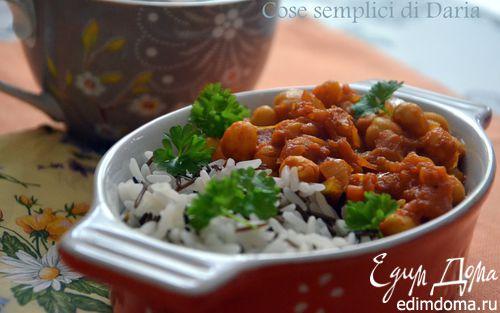 Рецепт Вегетарианский карри с тыквой и нутом