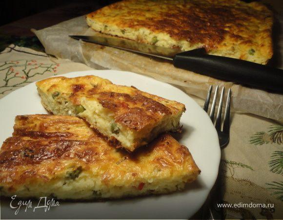 Творожная запеканка с сыром и овощами