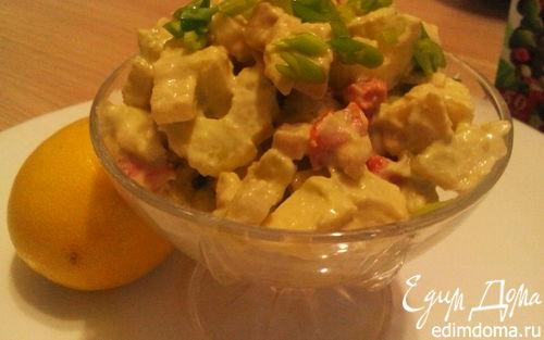 Рецепт Салат с соусом из авокадо