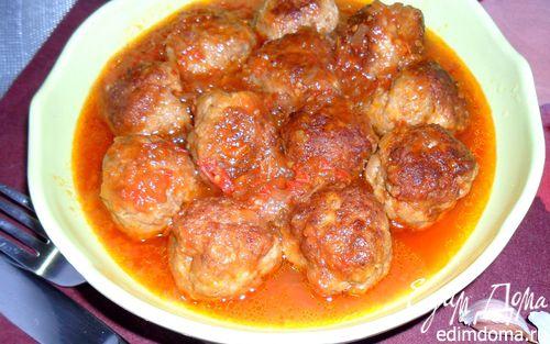 Рецепт Тефтели по-домашнему с шалфеем в томатном соусе