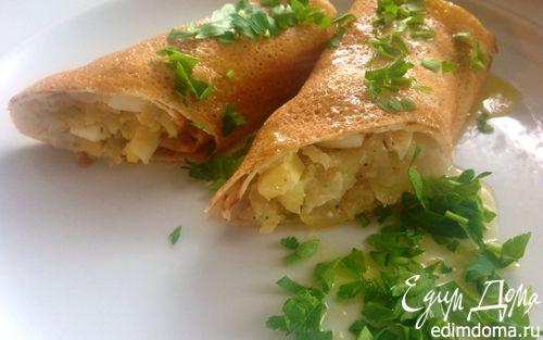 Рецепт Блины с капустой и яйцом