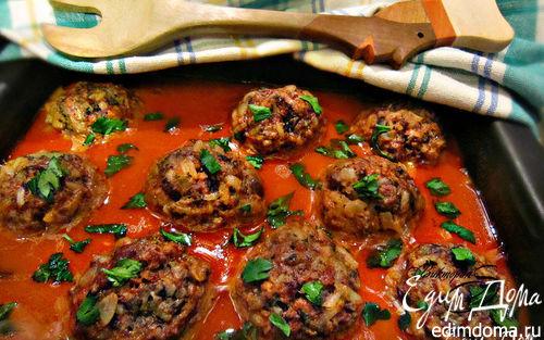 Рецепт Тефтели с грибами в томатном соусе