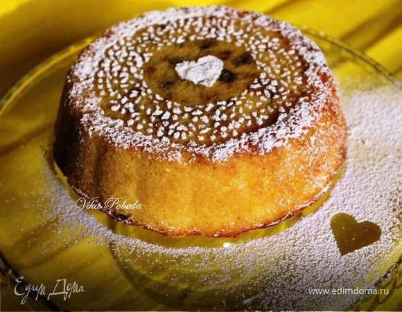 Кукурузный пирог с творогом и вяленой клюквой