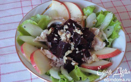 Рецепт Свекольный салат с орехами