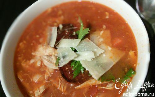Рецепт Куриный чили-суп с белой фасолью