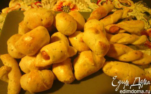 Рецепт Пирожки с сосисками