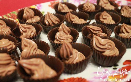 Рецепт Конфеты с шоколадно-сливочной начинкой