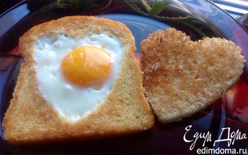 Рецепт Глазунья в тосте
