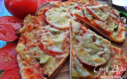 Рецепт Пицца с курицей и ананасом