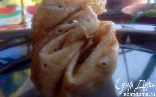 Рецепт Блины с начинкой из курицы, грибов, сладкого перца и кукурузы