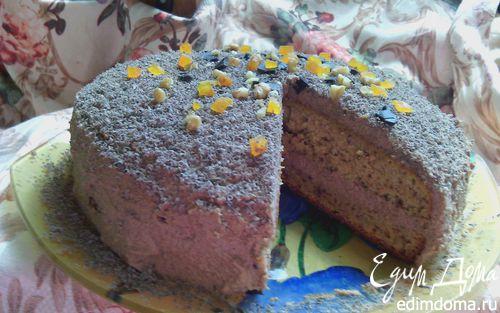 Рецепт Воздушный тыквенно-ореховый бисквит с тыквенно-шоколадным кремом