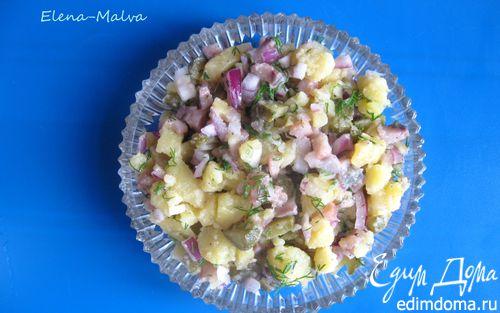 Рецепт Немецкий картофельный салат с сельдью