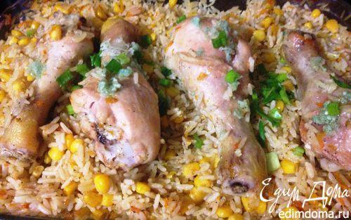 Рецепт Ленивые куриные ножки с рисом