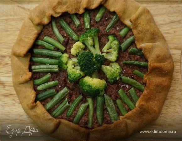 Овощная галета с фасолью и брокколи