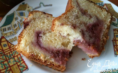 Рецепт Йогуртовый кекс с мраморным ягодным рисунком