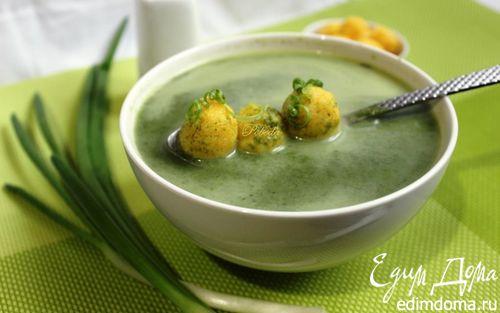 Рецепт Суп из шпината с сырными шариками