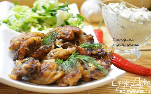 Рецепт Отбивные из куриных сердечек