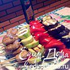 Шашлык из овощей-гриль с вкусной заправкой