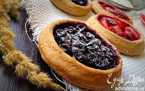 Рецепт Постные ржаные мини-галеты с ягодами