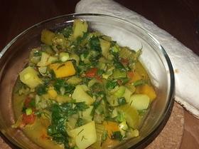 Овощное рагу с топинамбуром