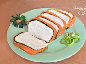 Суфле из цветной капусты с морковью и луком-пореем