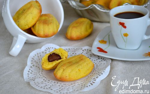 Рецепт Мадлен орехово-шоколадное