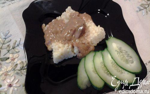 Рецепт Куриная печень в яблочно-сметанном соусе